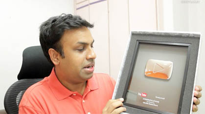 Geeky Ranjit YouTube Silver Play Button