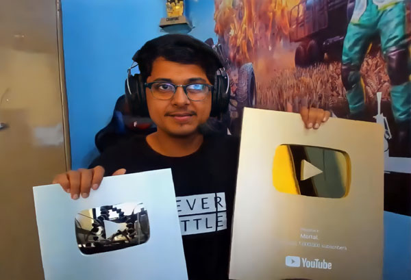 Mortal Gaming Youtube Gold and Silver Play Button
